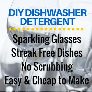 DIY All Natural Dishwasher Detergent