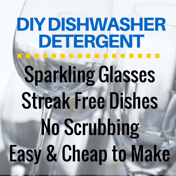 DIY all natural dishwasher detergent recipe without Borax