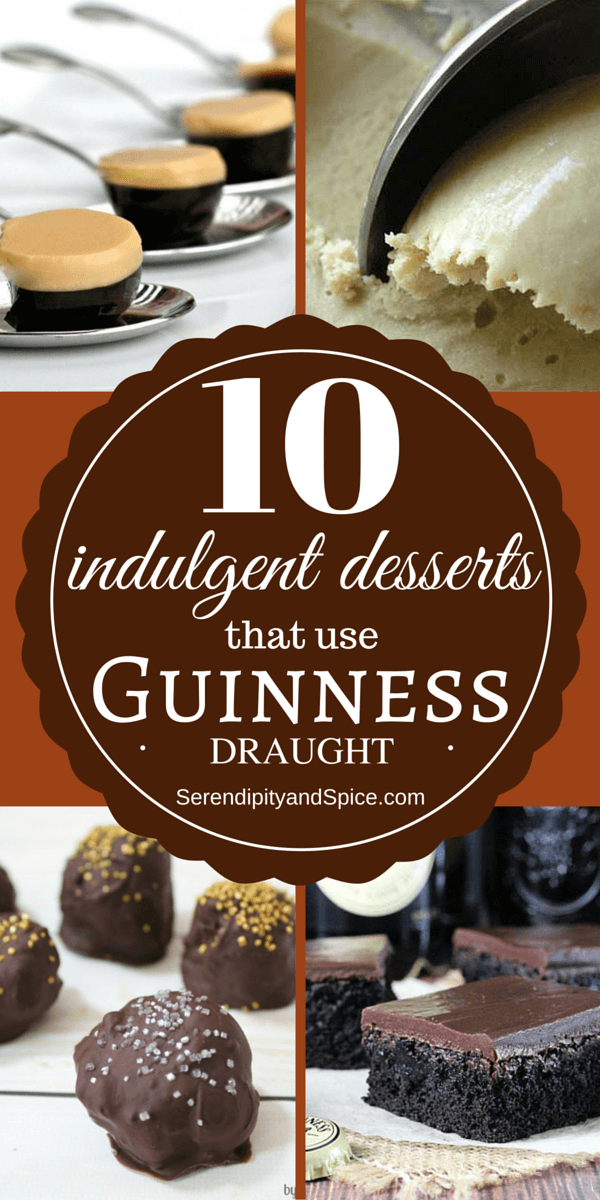 Desserts with Guinness Beer