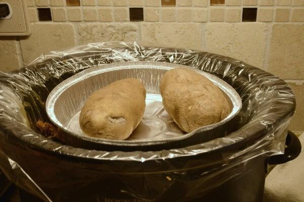 Kitchen Hack- Potatoes in Pie Plate