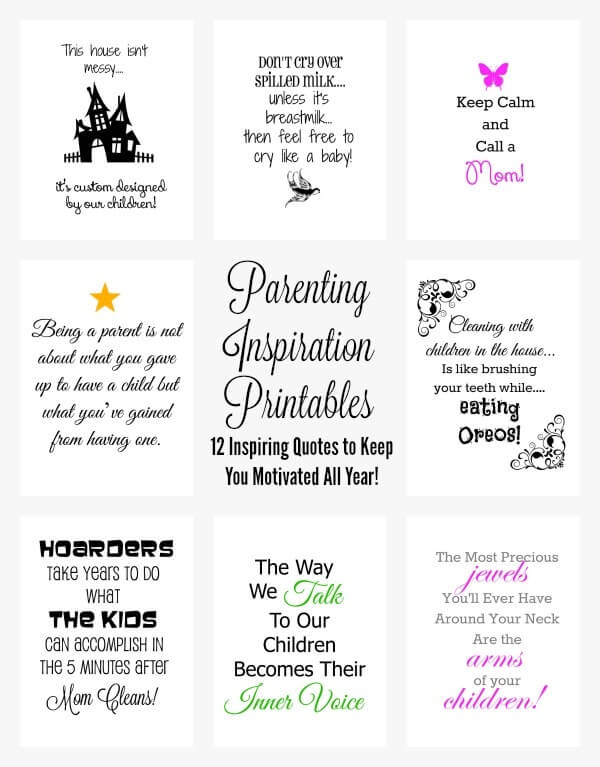 Parenting Inspiration Printables