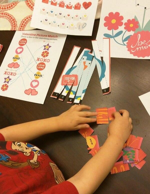 Valentine Preschooler Activity Pack