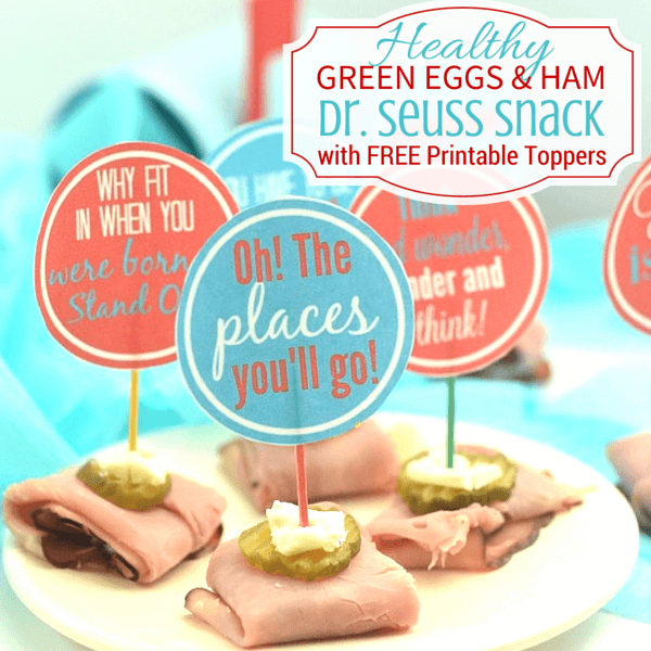 Dr. Seuss Healthy Snack Recipe with free printables