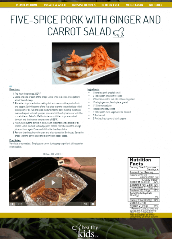 easy meal planning recipe