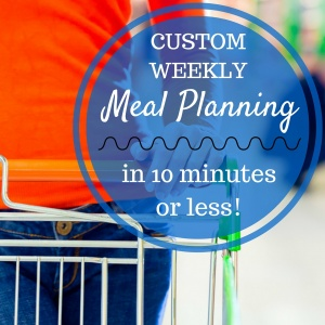 Meal Planning for the Week in 10 Minutes
