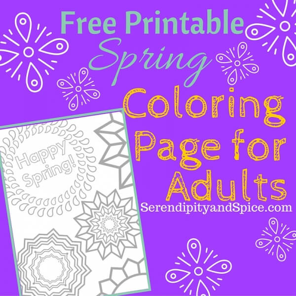 Spring Adult Coloring Page Free Printable