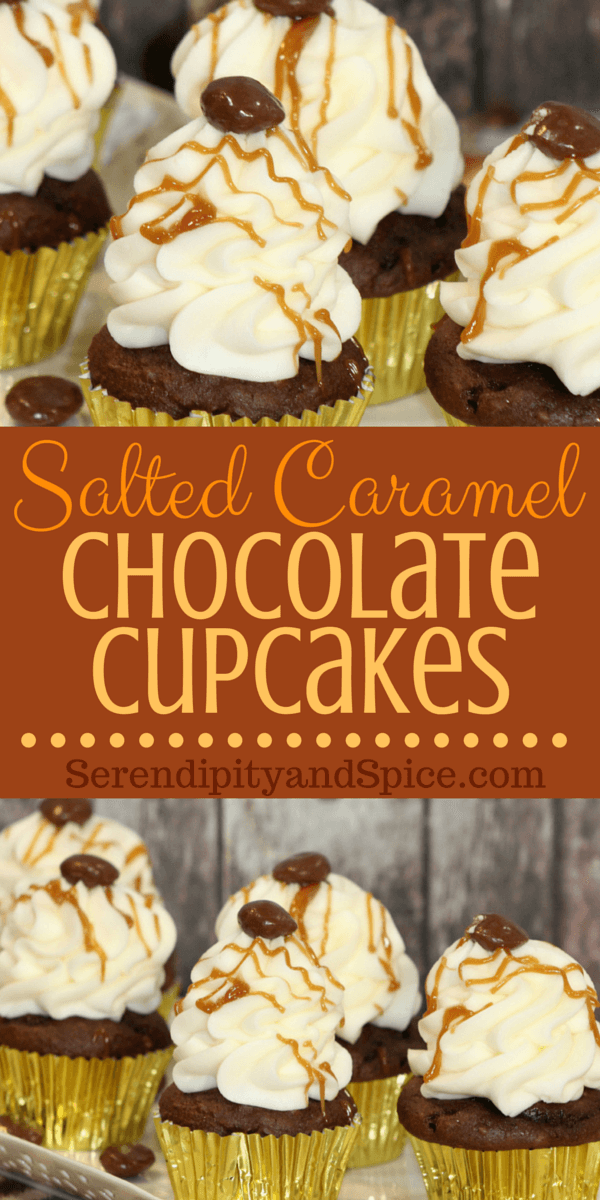 Salted Candied Caramel Chocolate Cupcakes