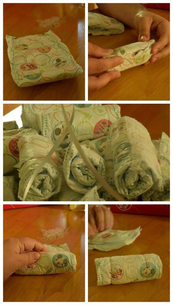 make a diaper monkey