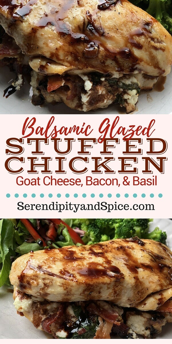 Balsamic Glazed Stuffed Chicken Recipe