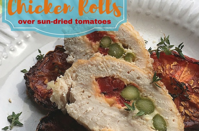Chicken Rolls Recipe with Sun Dried Tomatoes