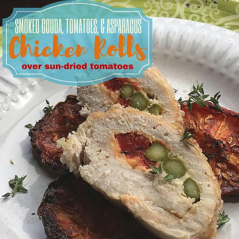 Stuffed Chicken Rolls over Sun Dried Tomatoes Recipe