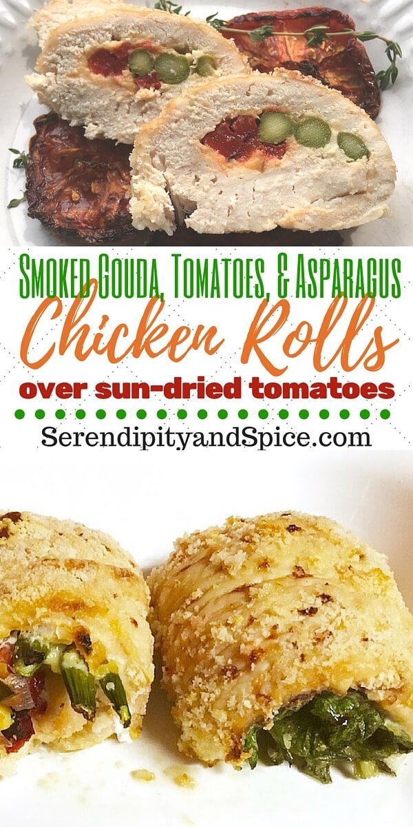 Stuffed Chicken Rolls with Sun Dried Tomatoes Recipe