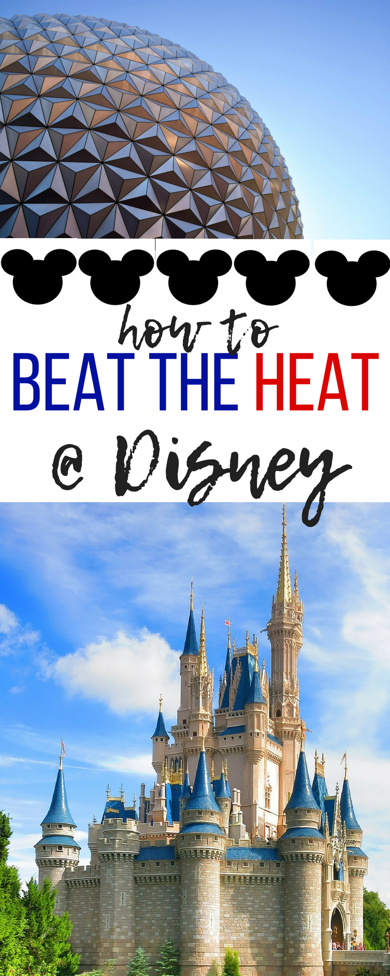 These tips to stay cool at Disney will help you beat the heat during those sweltering summer months in Florida.  #Disney #DisneyWorld #DisneyVacation #FamilyVacation #Vacation #Tips #Travel #Florida #Orlando #Hacks #Summer