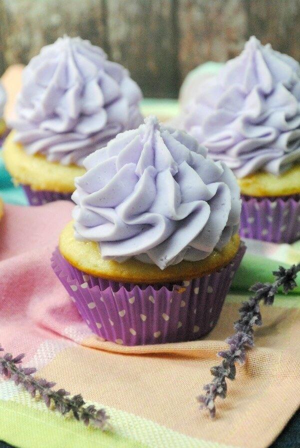 Luscious Lavender Cupcakes