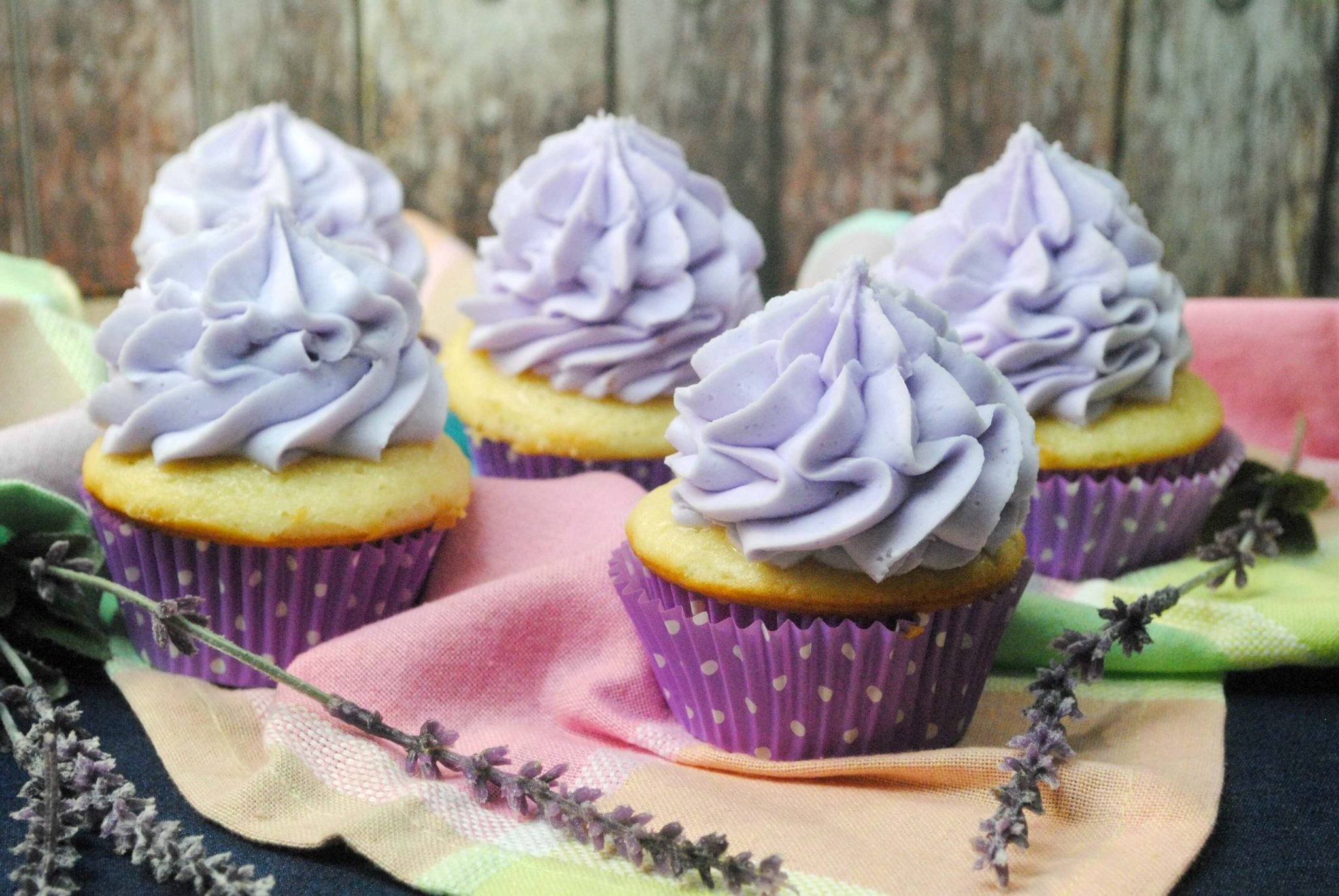Luscious Lavender Cupcakes – #SweetandSouthern