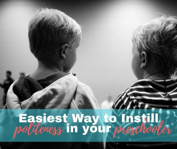 Teaching Your Preschooler Manners