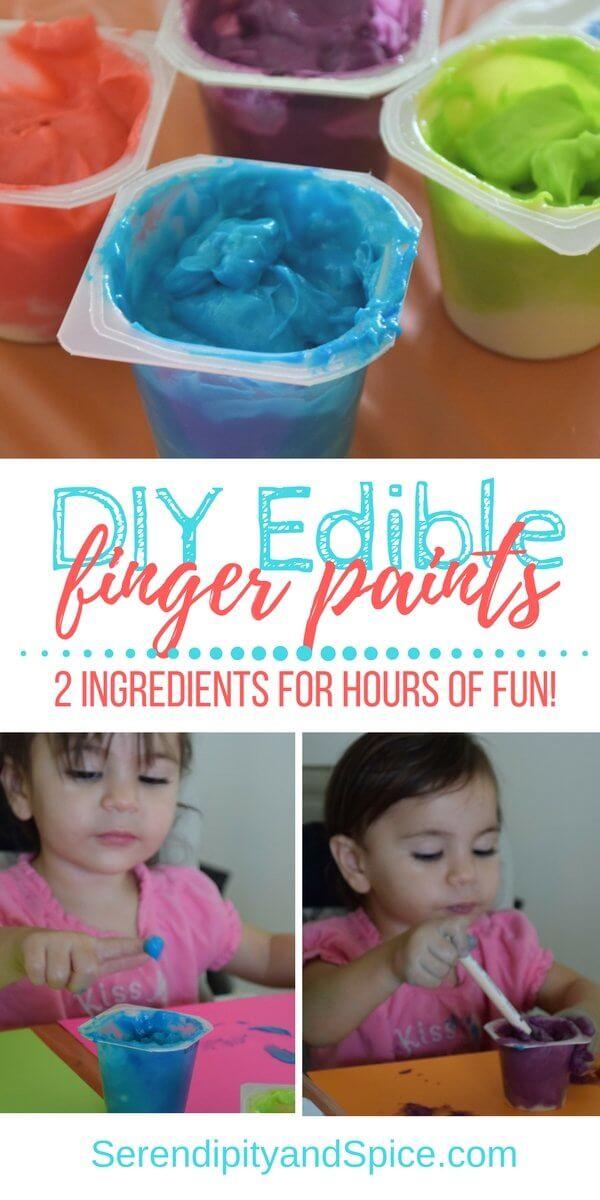 DIY Edible Finger Paints
