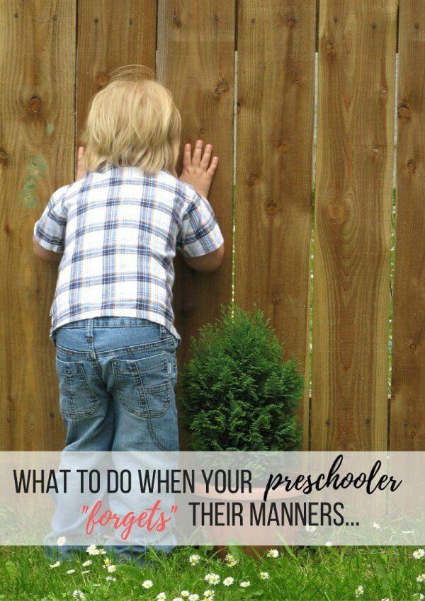 Teaching preschoolers manners