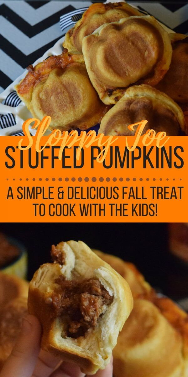 These sloppy joe stuffed pumpkins are so much fun to make with the kids. They make a simple dinner that's ready in no time!