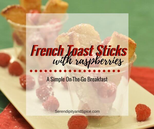 French Toast Sticks with Raspberries