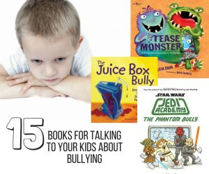 Books About Bullying for Kids-- Help your kids understand bullies with these books about bullying. Plus, 5 resource books to help parents with approaching the subject of bullying