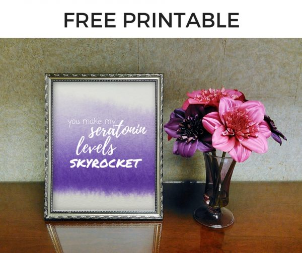 Free Printable - You Make My Seratonin Levels Skyrocket