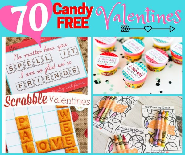 Candy Free Valentines for Kids
