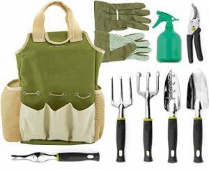 VREMI Horticulture Helper 9 pcs Garden Tools Set
