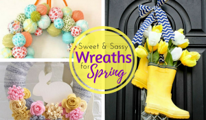 DIY Unique Spring Wreaths