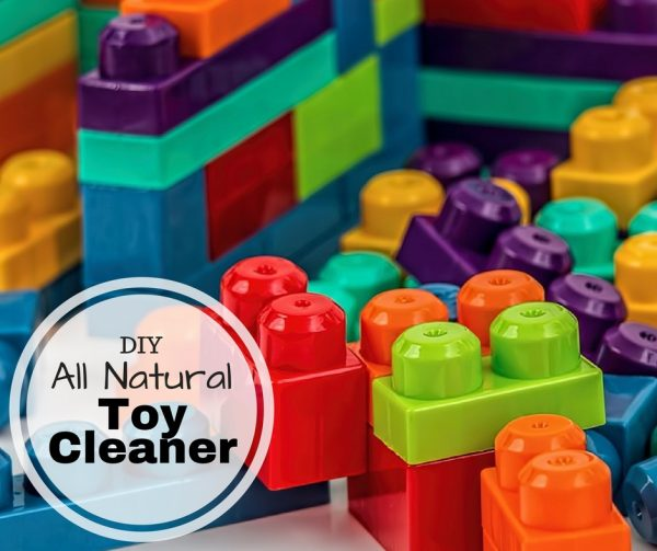 DIY All Natural Toy Cleaner Recipe - Safe, Non-toxic cleaning solution for the kids and baby toys.