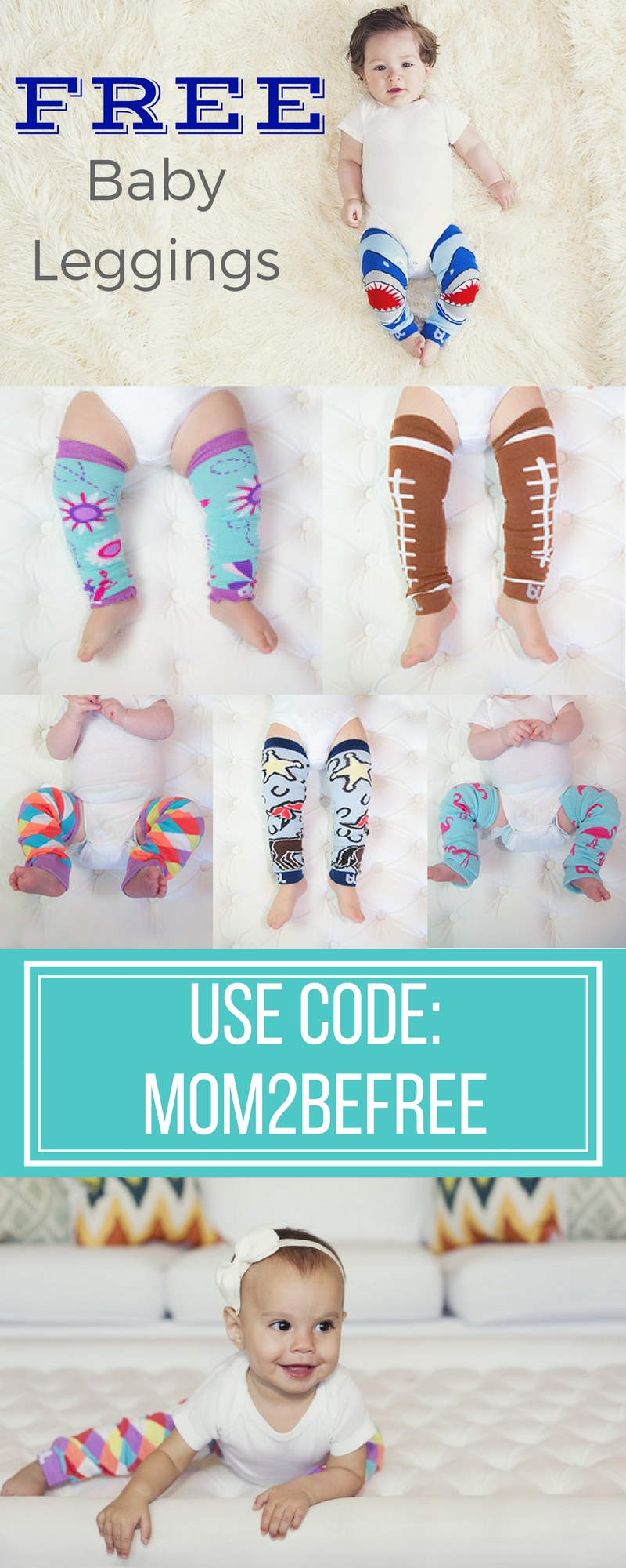 5 Free Pairs of Baby Leggings