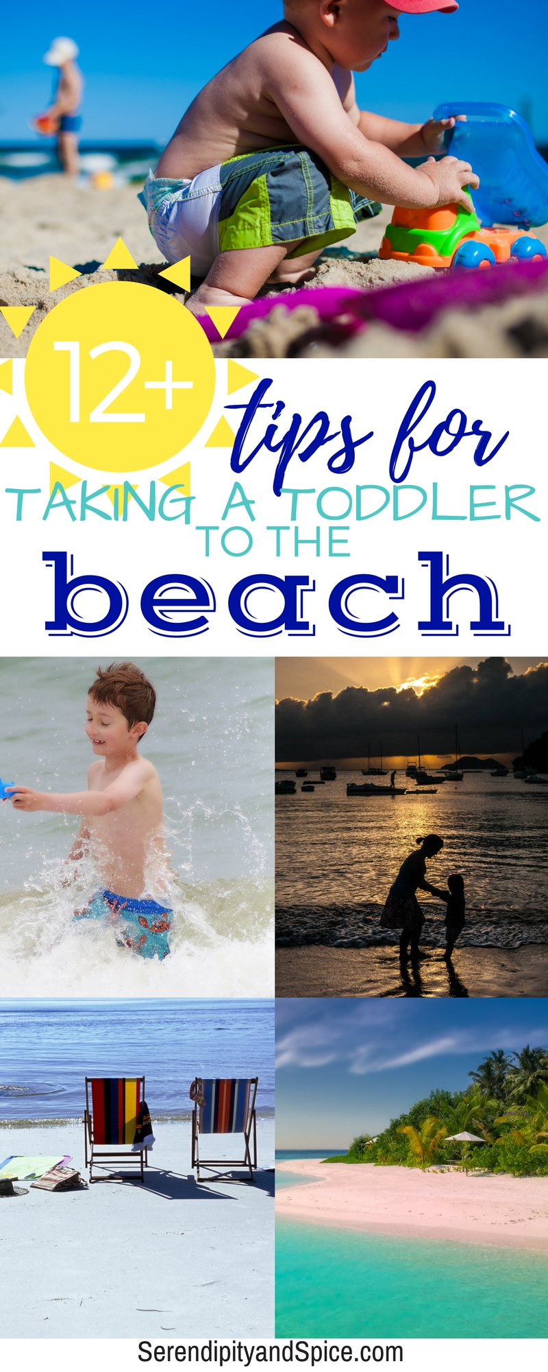 Be prepared for your beach vacation this year with these tips for taking babies, toddlers, and kids to the beach.  Have a relaxing family vacation by being prepared. #beach #travel #vacation #trip #travelingwithkids #toddlers #family #summer