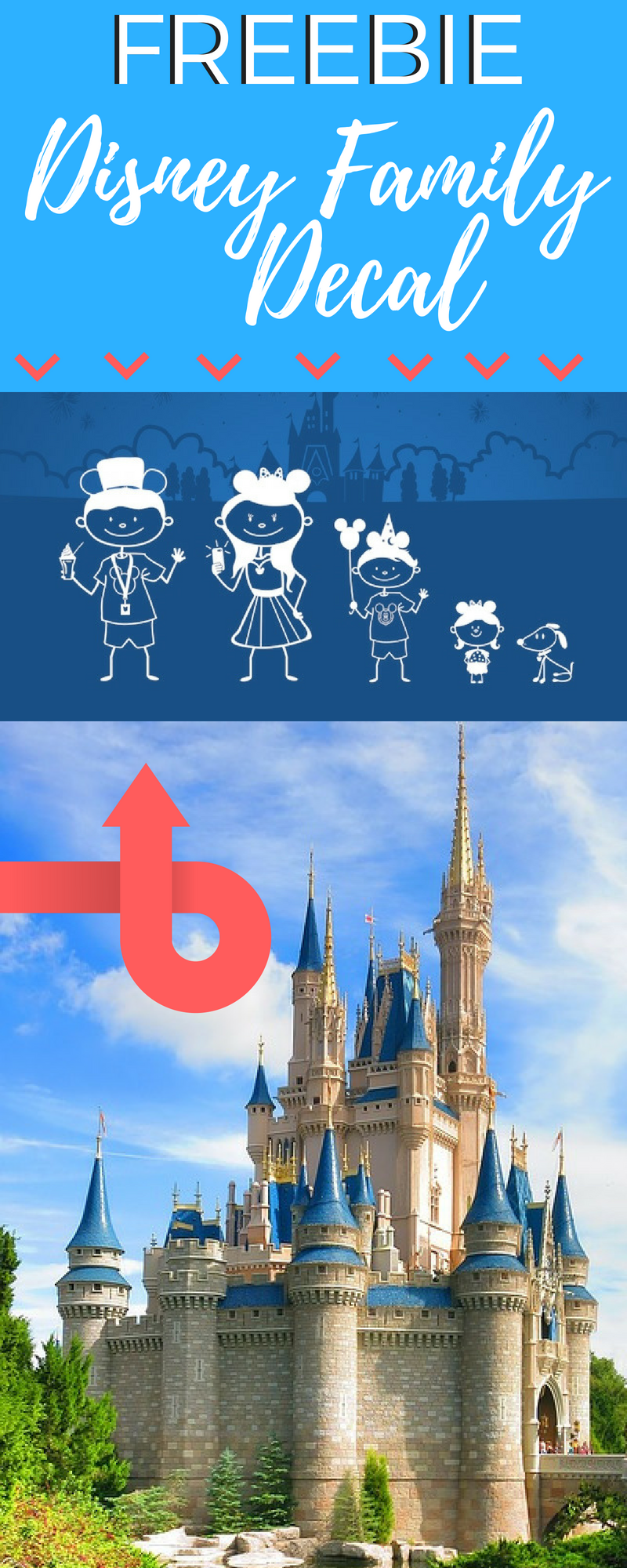 Get your free Disney family decal before they're all gone! #Disney #Freebie #DisneyWorld #Free #Vacation #Family #SummerFun #Kids
