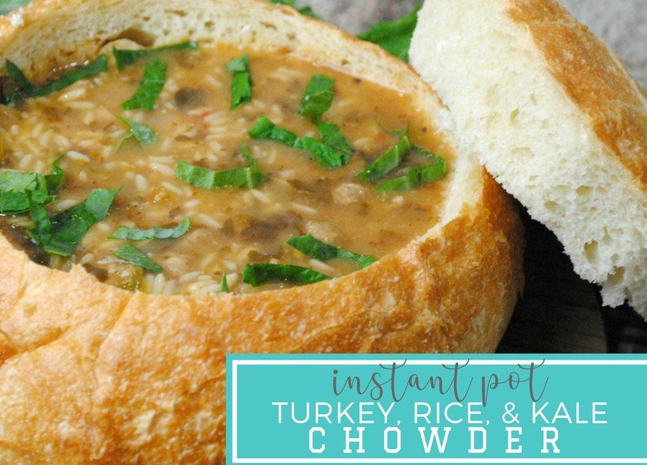 Turkey Rice and Kale Chowder – Instant Pot Recipe
