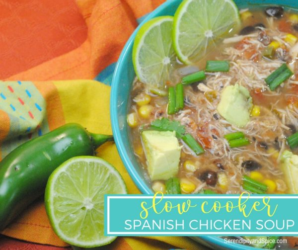 Spanish Slow Cooker chicken soup