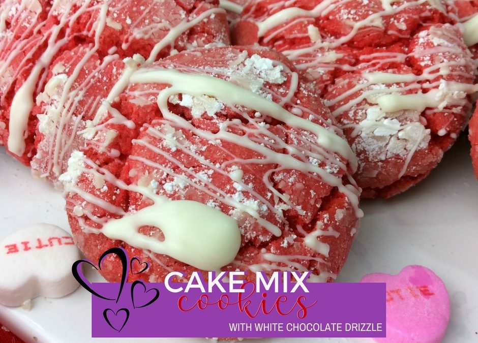 Strawberry Cake Mix Cookies