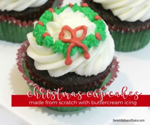Holly Wreath Christmas Cupcakes Recipe
