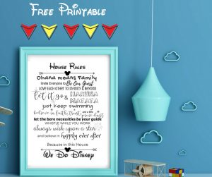 Disney House Rules Free Printable