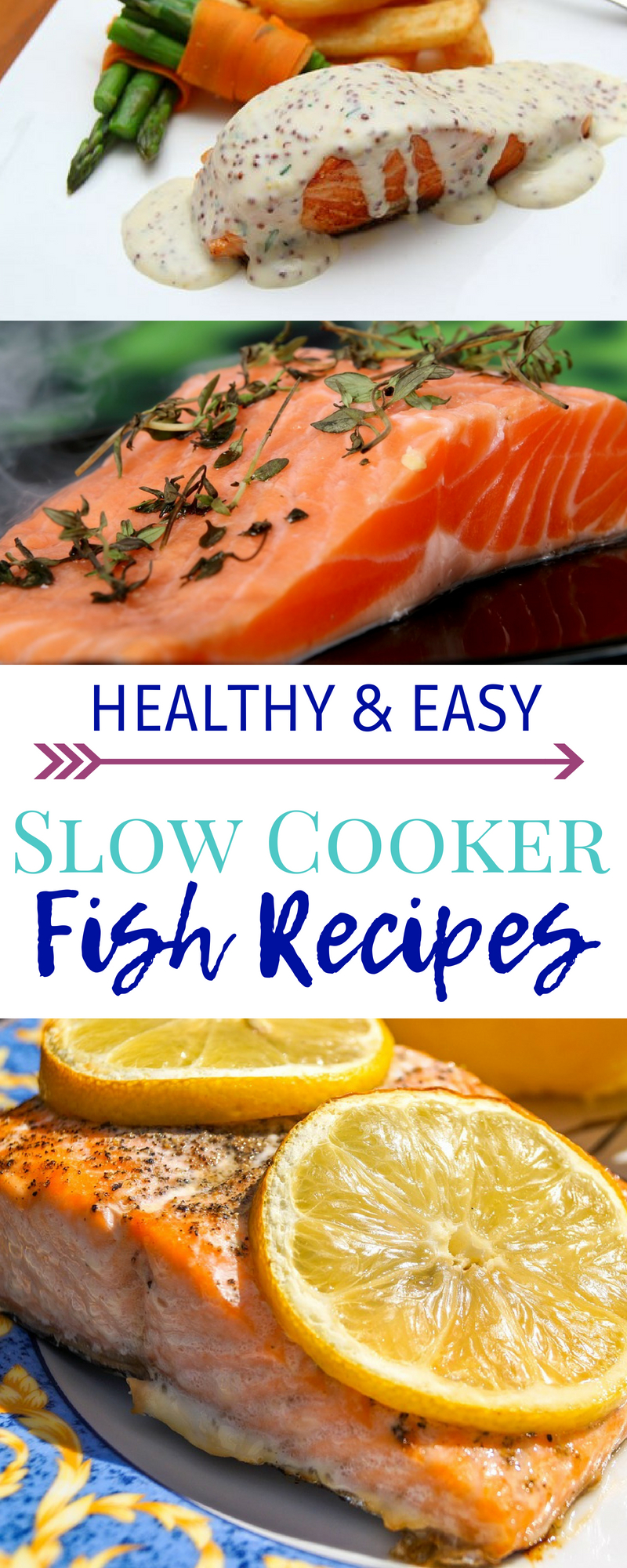 Fish slow cooker recipes that the whole family will love!  These fish slow cooker recipes are the easiest way to cook fish perfectly every time. #fish #slowcooker #crockpot #salmon #whitefish #tuna #pollock #fishrecipe #easyrecipe