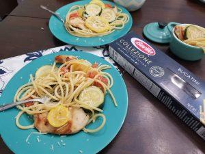 Bucatini Pasta with Squash and Zucchini Recipe