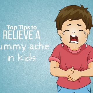relieve a tummy ache in toddlers
