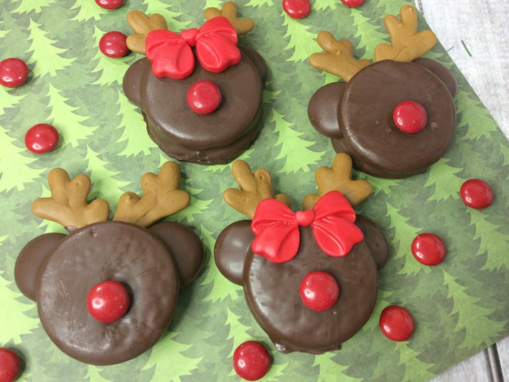 Mickey Rudolph Cookies Recipe Semi Homemade Christmas