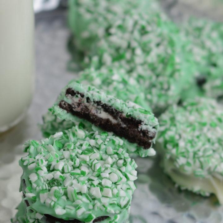 Chocolate Mint Semi-Homemade St. Patrick's Day Cookies