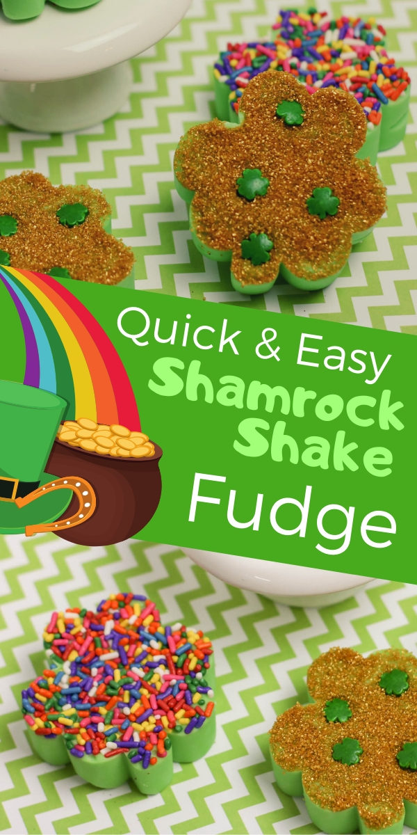 Try this quick and easy Shamrock Shake Chocolate Fudge Recipe