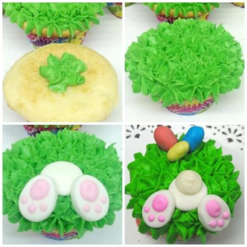 Bunny Bottom Easter Cupcakes from Scratch