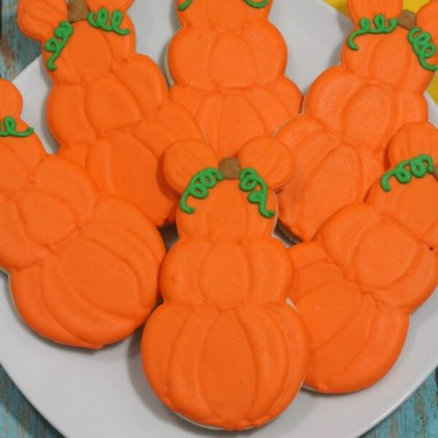 Mickey Mouse Pumpkin Halloween Cookies
