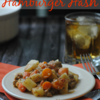 Hamburger Hash Slow Cooker Recipe - The BEST Ground Beef Crock Pot Meal