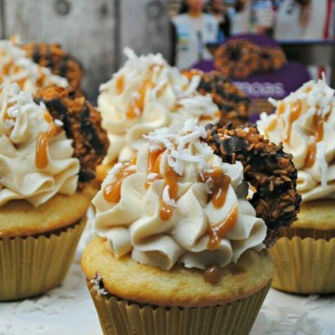 Girl Scout Samoas Caramel Coconut Frosting Recipe