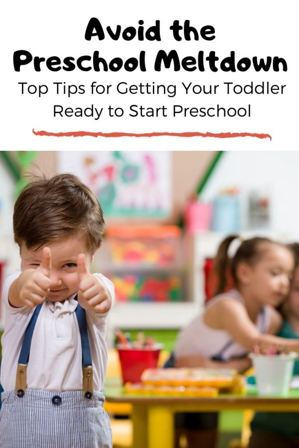Avoid the preschool meltdown!  Top tips for getting your toddler ready to start preschool.
