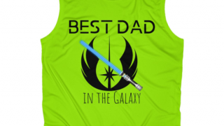 9. Best Dad in the Galaxy Performance Tank